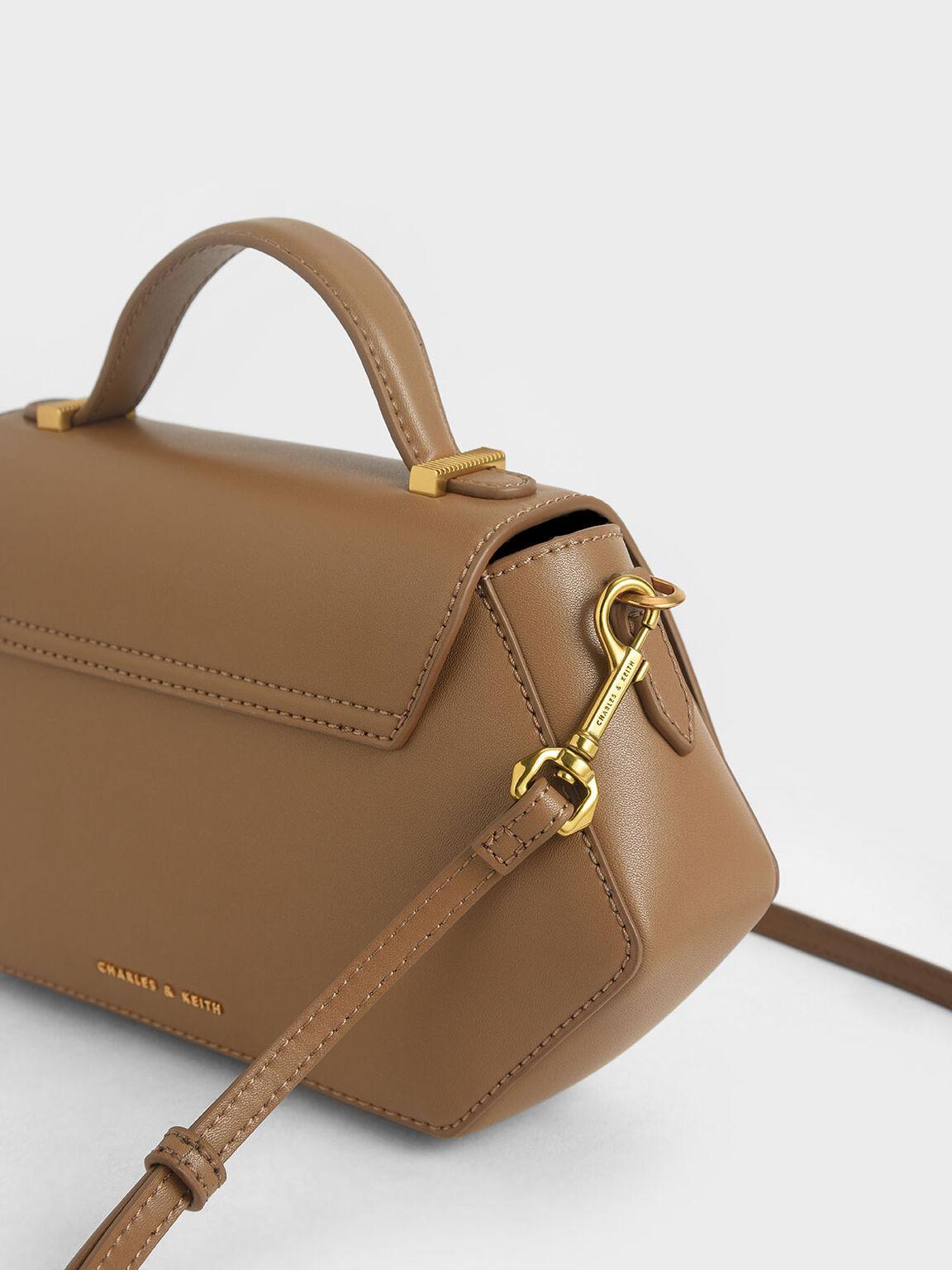 六角形手提包, 卡其色, hi-res