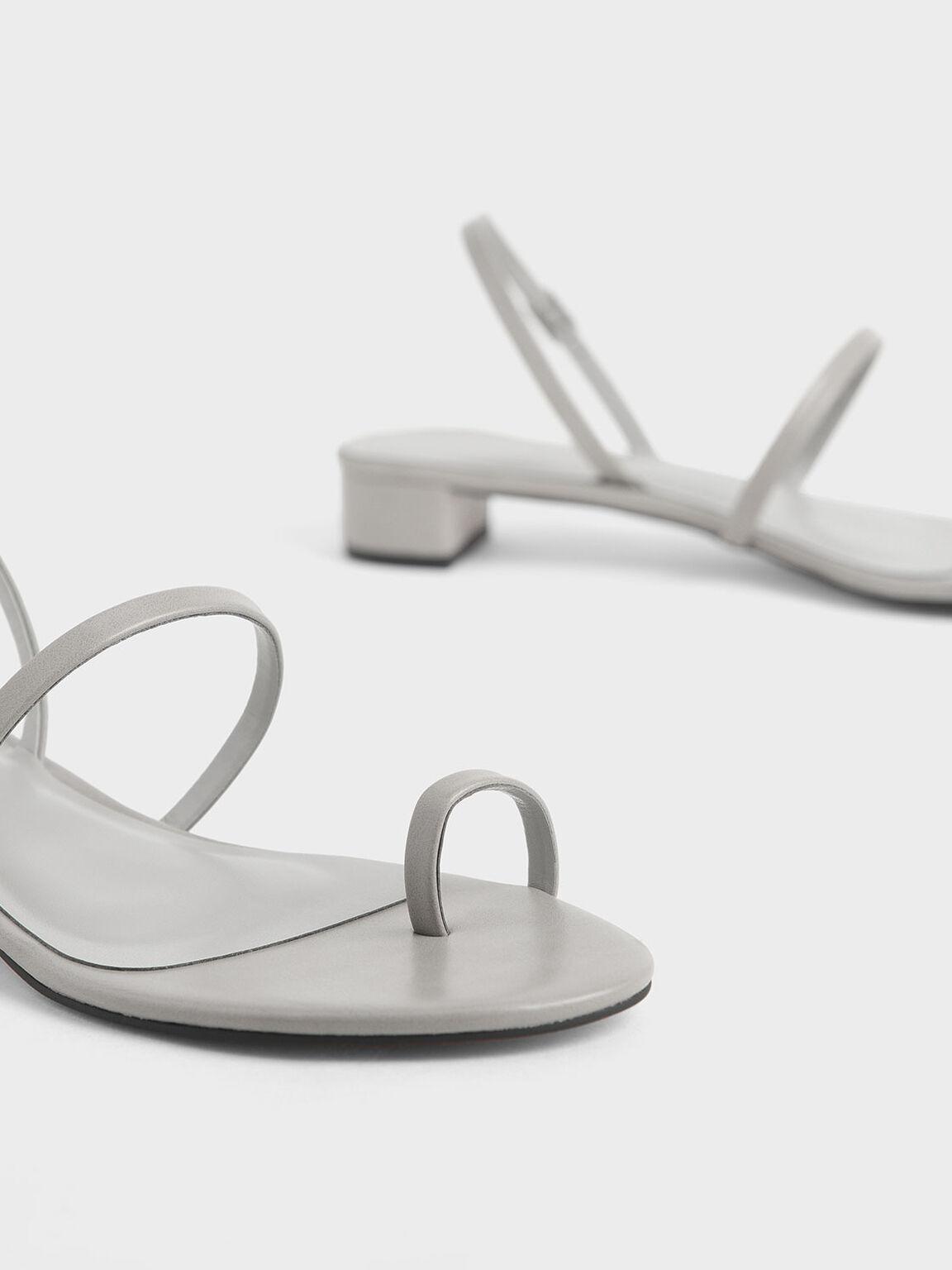 Toe Loop Sandals, Light Grey, hi-res
