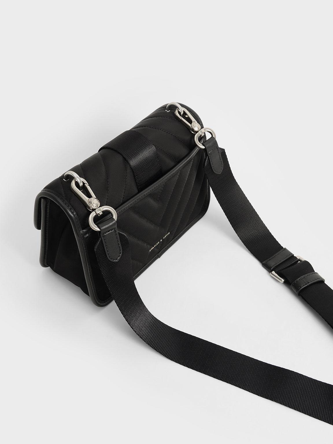 The Anniversary Series: Sonia Recycled Nylon Padded Bag, Black, hi-res