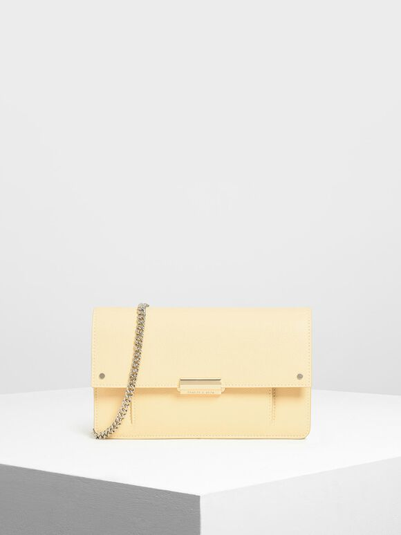 Chain Wallet, Yellow, hi-res