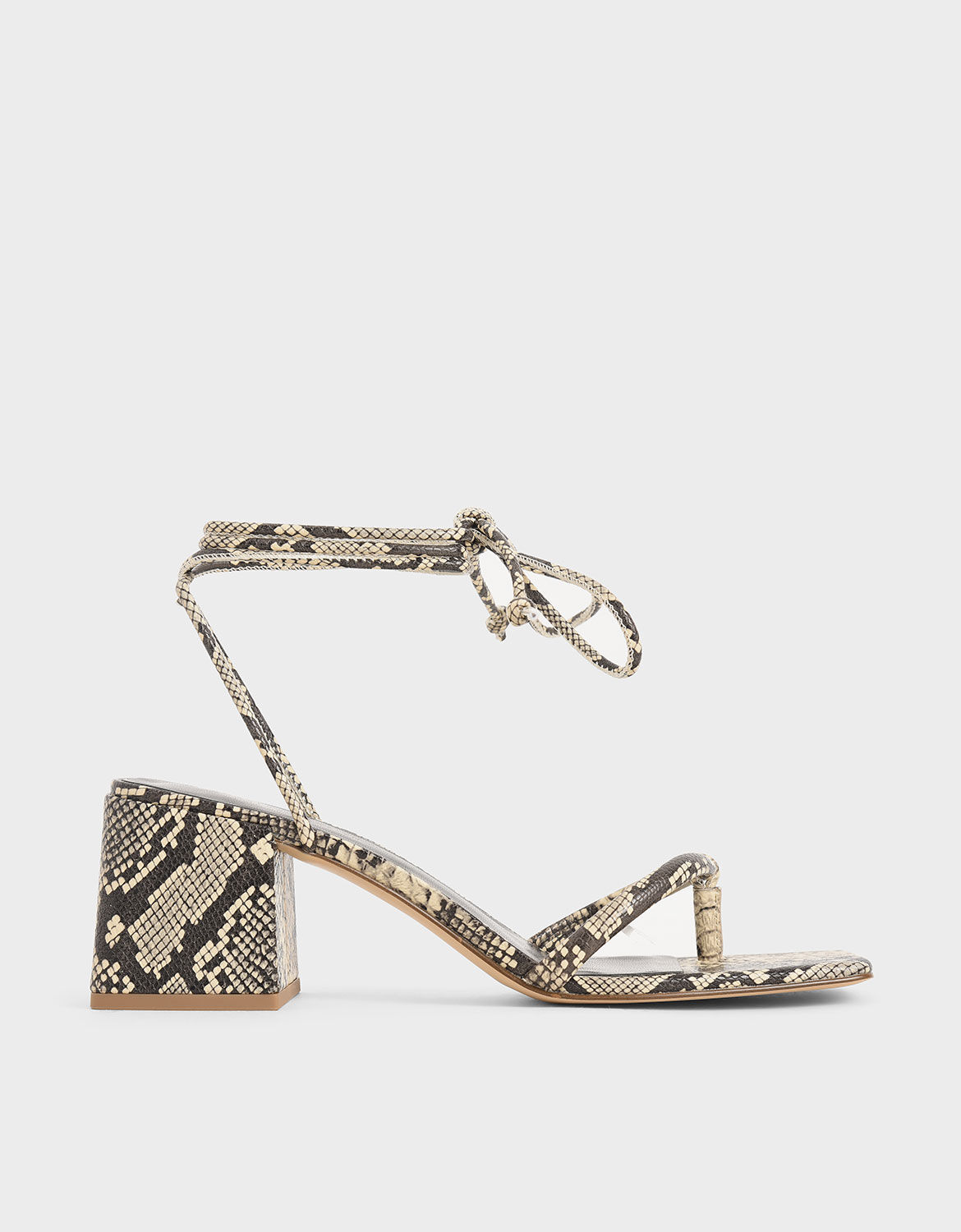 Multicoloured Snake Print Lace Up Block