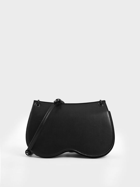 Eyelet Crossbody Bag, Black, hi-res