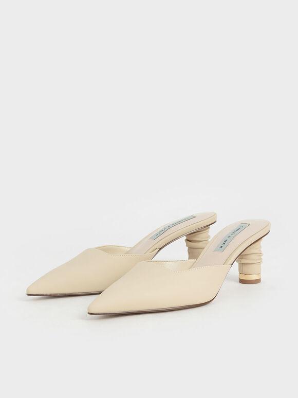 皺褶跟穆勒鞋, 灰褐色, hi-res