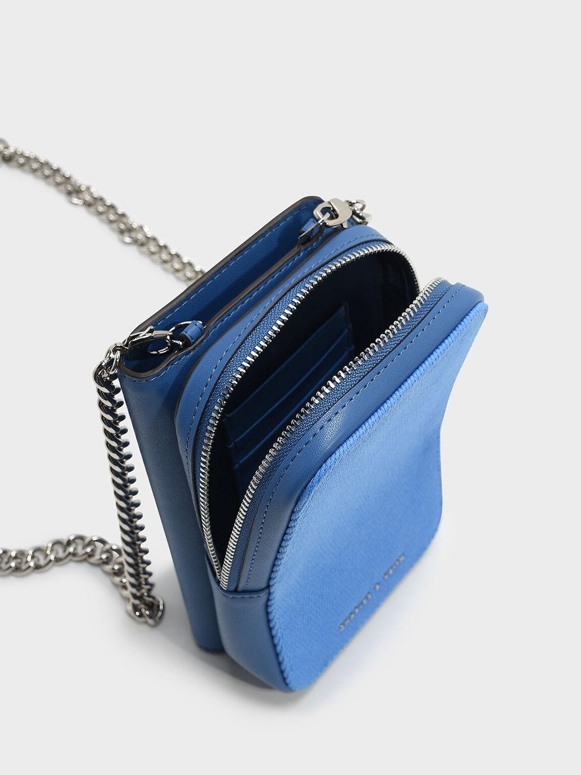 Zipped Pouch, Blue, hi-res