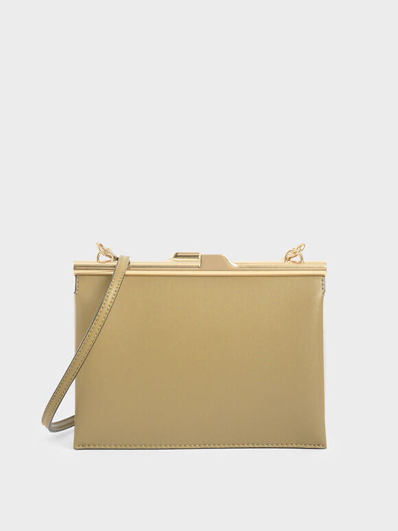 Square Clutch, Sand, hi-res