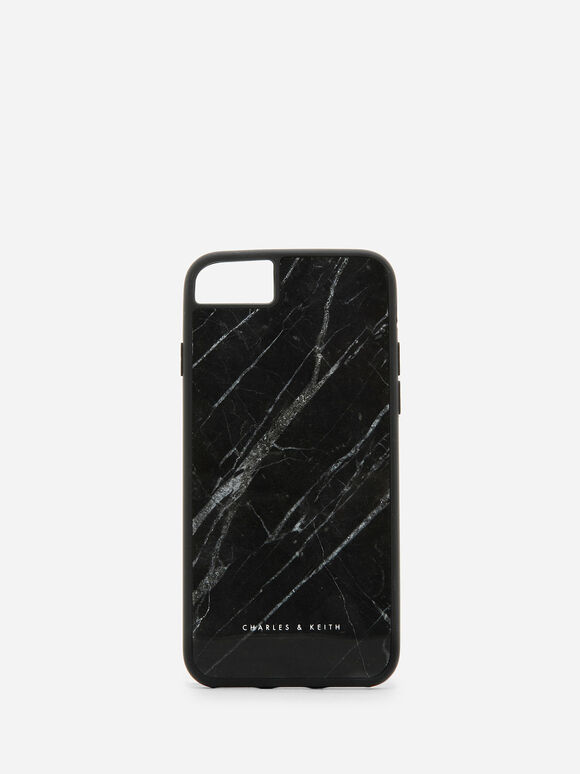iPhone 7/7s Marble Case, Black, hi-res