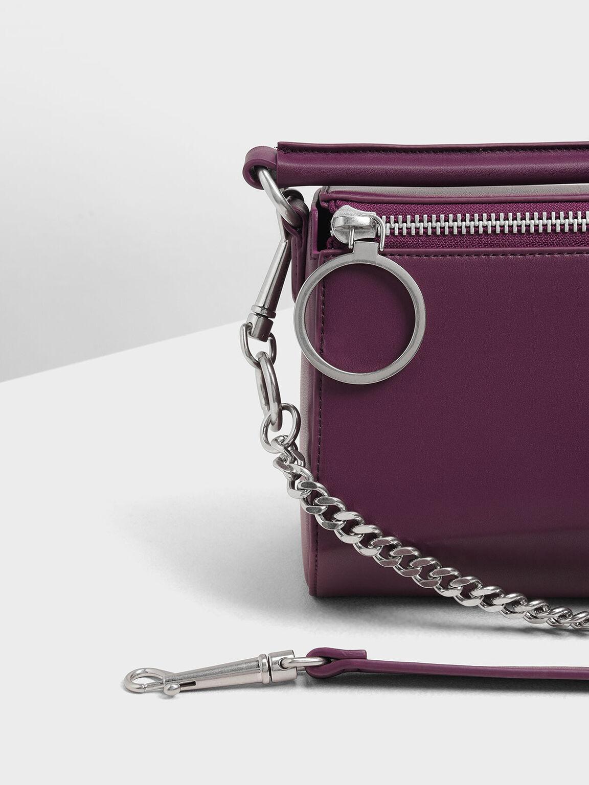 Ring Zip Bag, Prune, hi-res