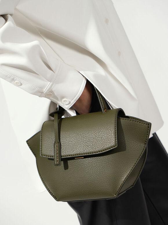 中型手提鞦韆包, 橄欖色, hi-res