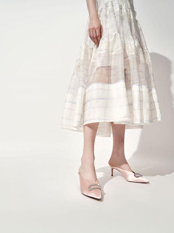 婚禮系列:華麗碎鑽尖頭跟鞋, 粉紅色, hi-res