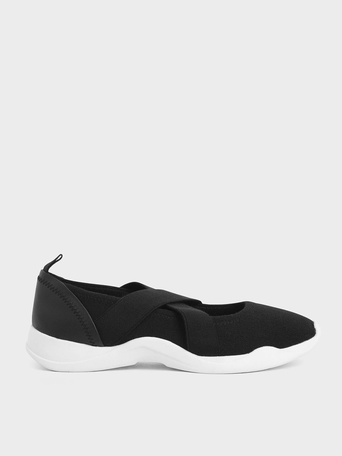Criss-Cross Slip-On Sneakers, Black, hi-res