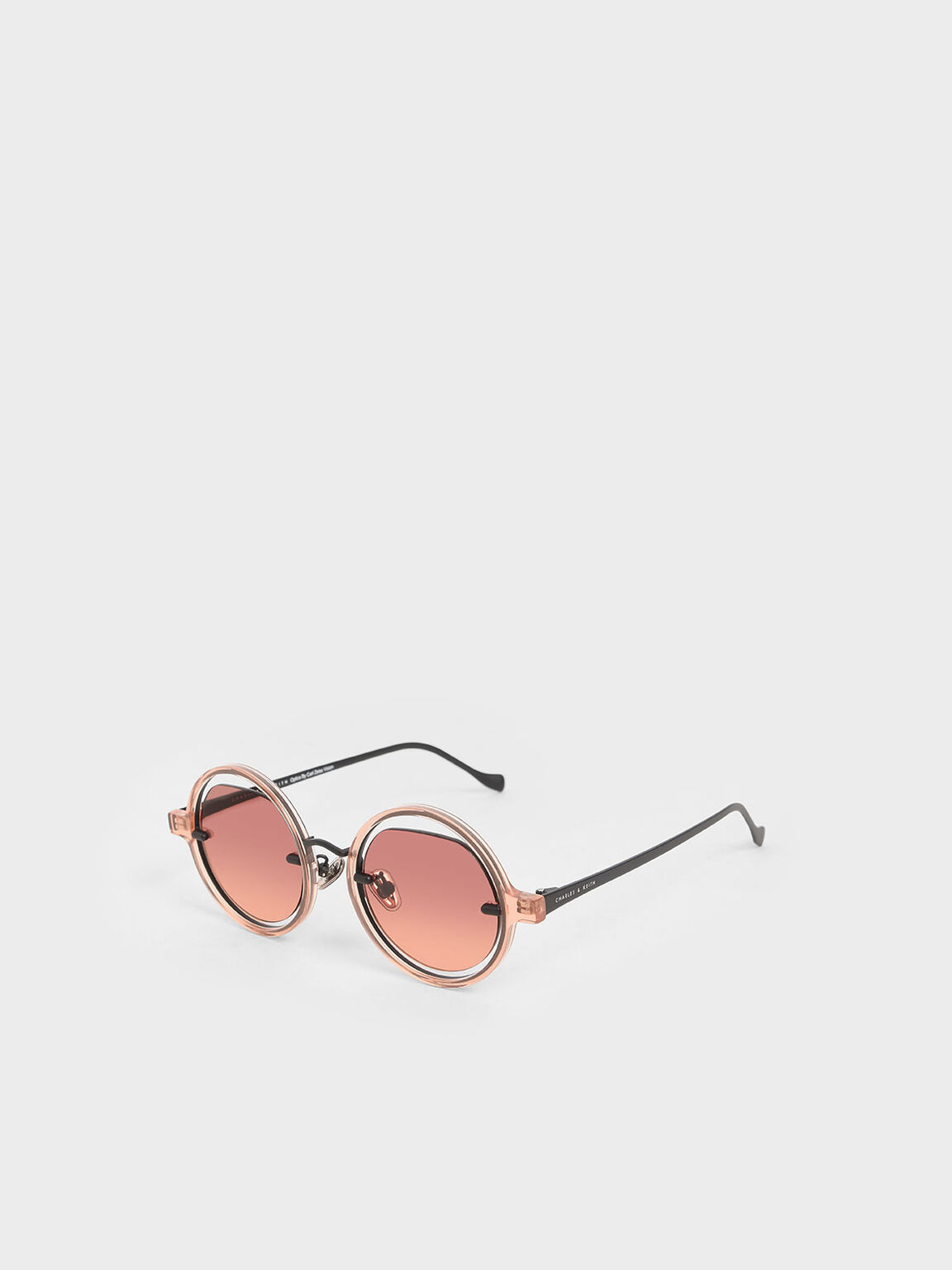Cut-Out Round Sunglasses, Mauve, hi-res