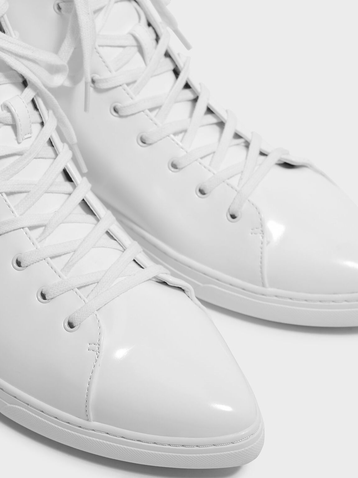 Classic High-Top Sneakers, White, hi-res