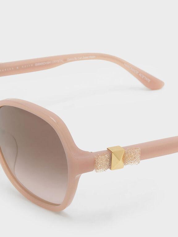 Embellished Butterfly City Eyewear, Pink, hi-res