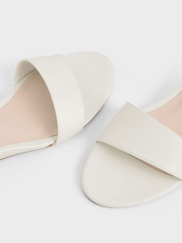 Asymmetric Wedge Sandals, Chalk, hi-res
