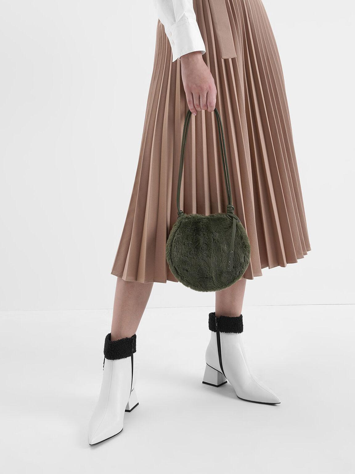 Textured Mini Crossbody Bag, Olive, hi-res