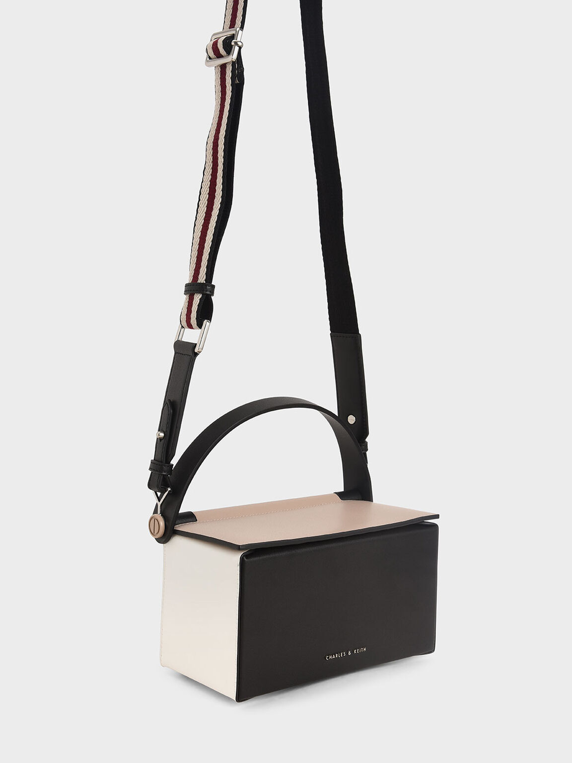Top Handle Box Bag, Nude, hi-res