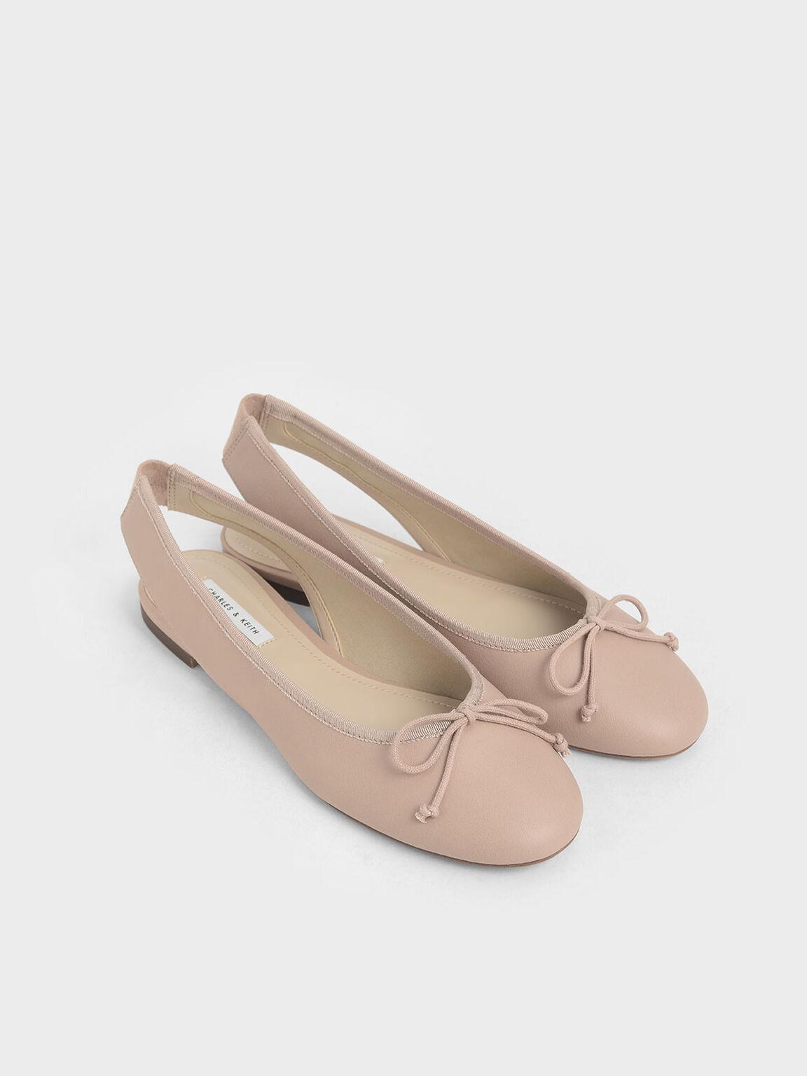 蝴蝶結平底鞋, 膚色, hi-res