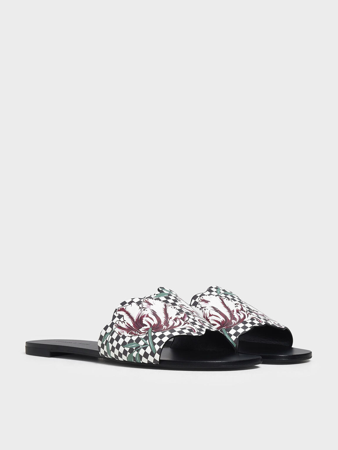 Floral Sliders, Black, hi-res