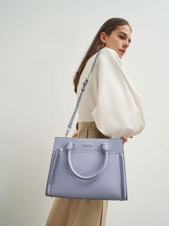 都會手提包, 淺藍色, hi-res