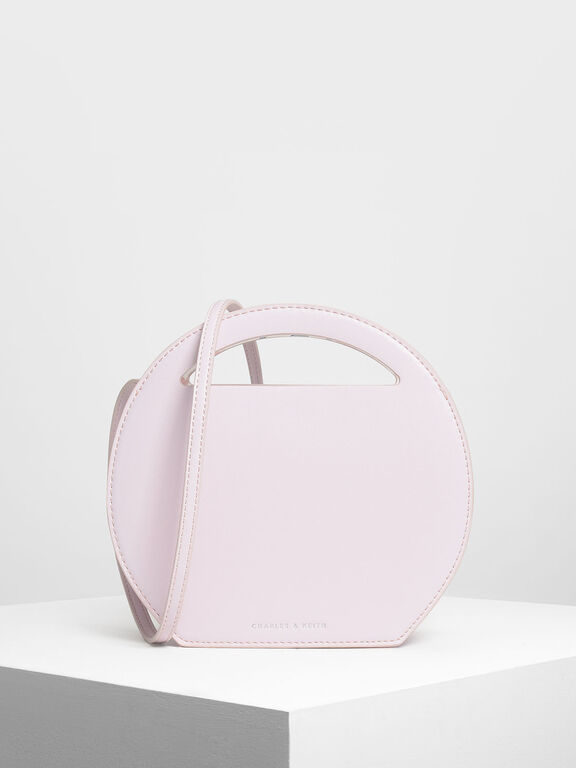 Round Crossbody Bag, Light Pink, hi-res
