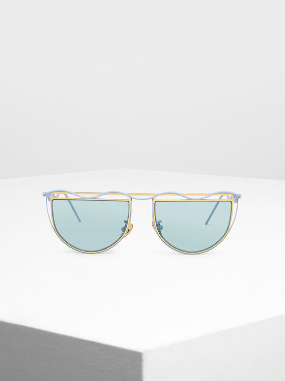 세미-서클 선글라스, Blue, hi-res
