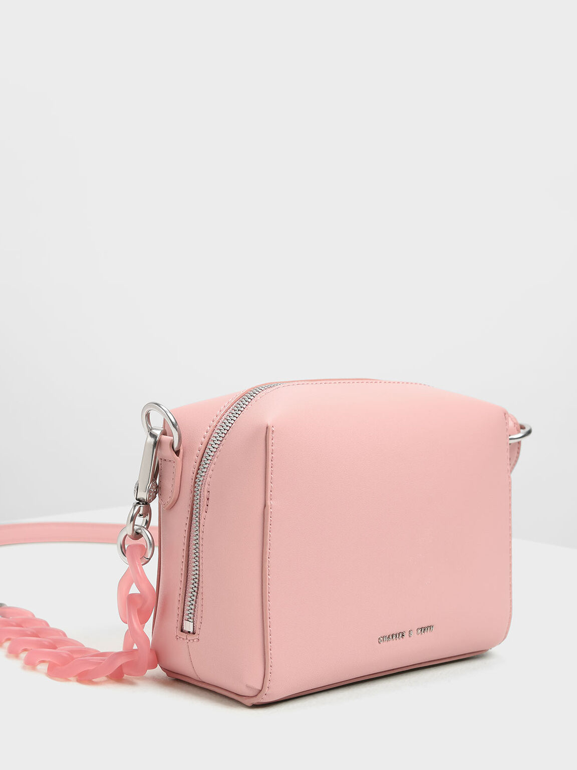 Bubble Detail Crossbody Bag, Pink, hi-res