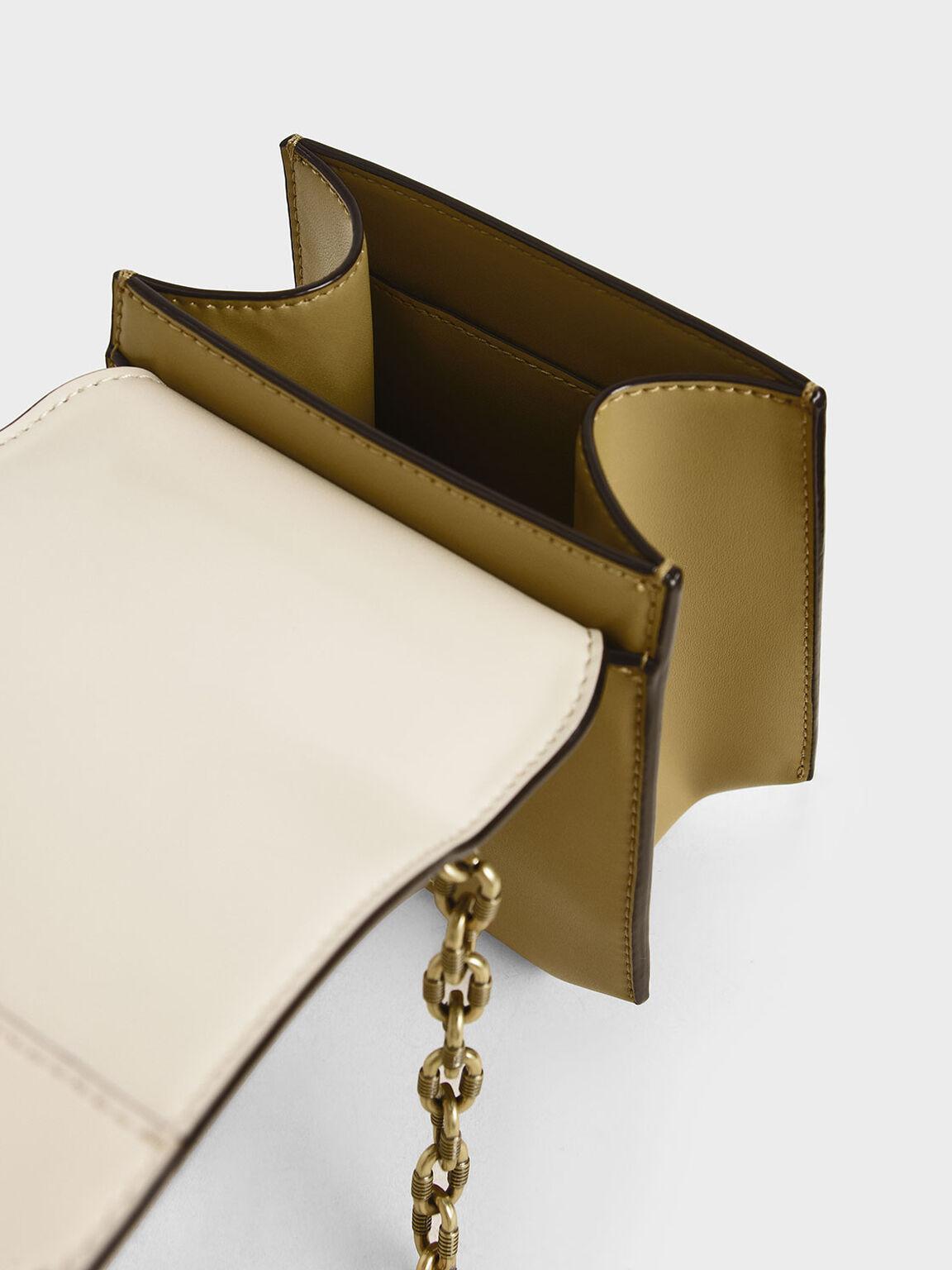 Metallic Accent Geometric Crossbody Bag, Multi, hi-res