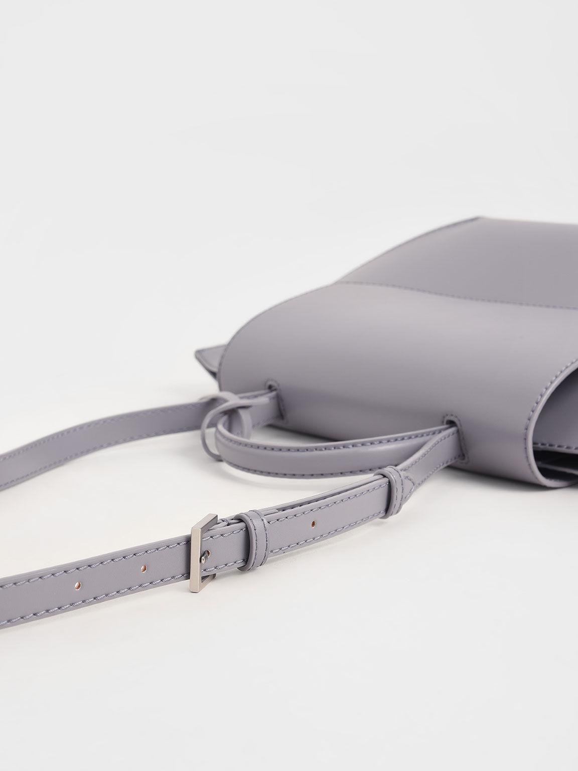 Geometric Tote Bag, Lilac, hi-res