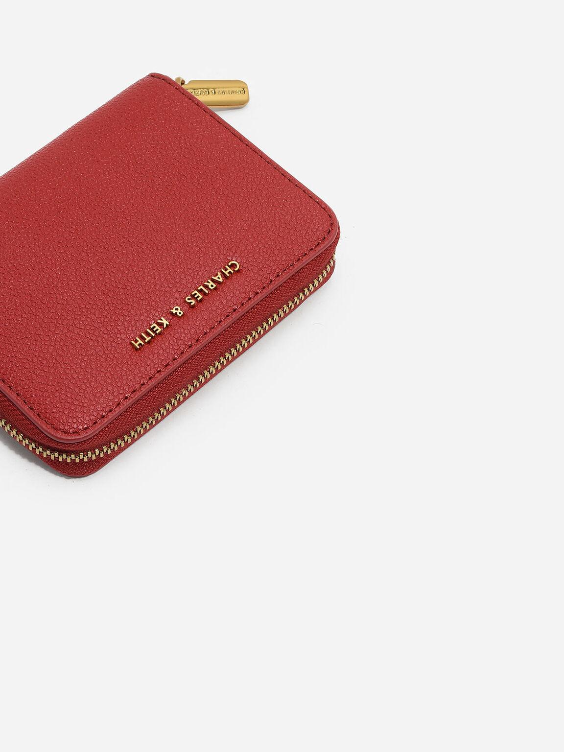 Basic Square Wallet, Red, hi-res