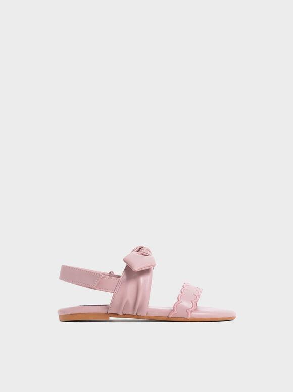 兒童扭結瑪莉珍涼鞋, 粉紅色, hi-res