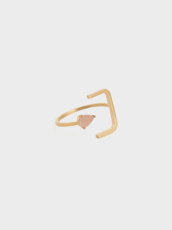 Sunstone Angular Ring, Bronze, hi-res