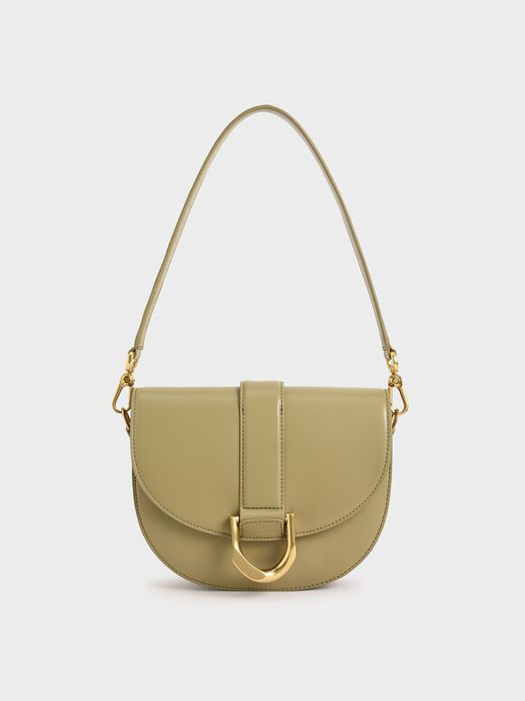 Gabine Saddle Bag, Khaki, hi-res