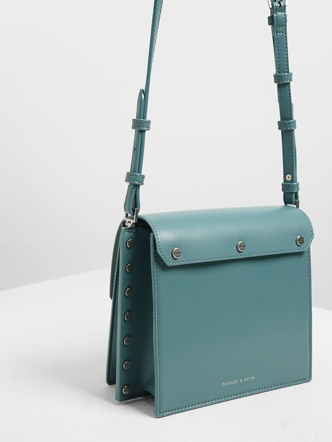 Reversible Flap Crossbody Bag, Teal, hi-res
