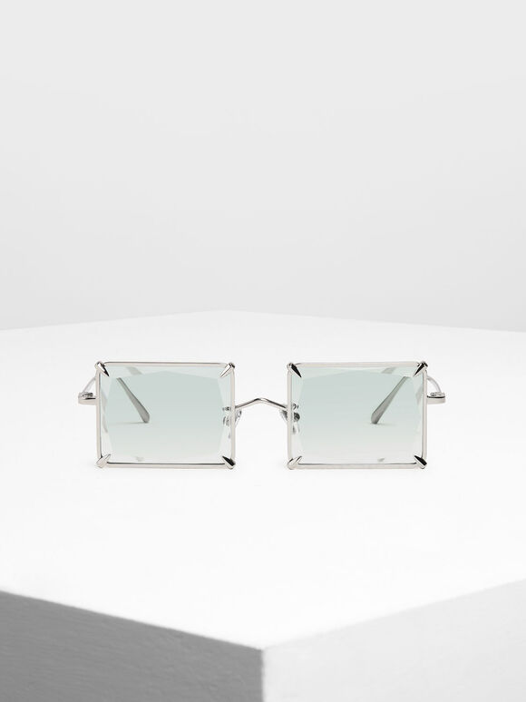 Square Wire Frame Sunglasses, Multi, hi-res