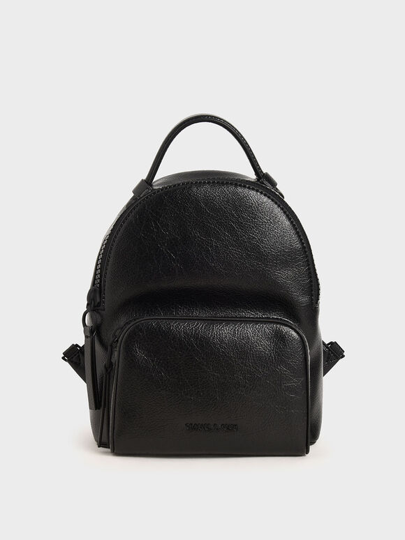 Top Handle Backpack, Black, hi-res