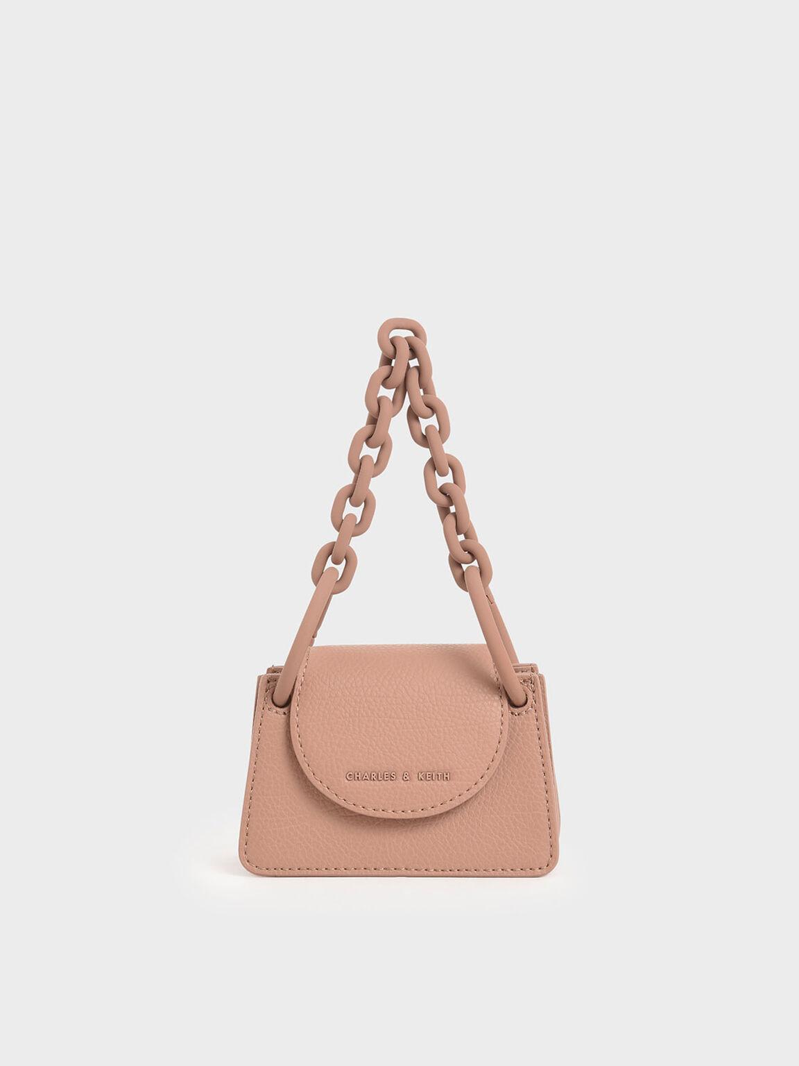 Chunky Chain Handle Mini Bag, Blush, hi-res