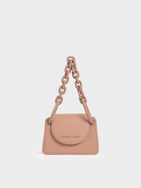 Chunky Chain Handle Mini Bag, Blush, hi-res