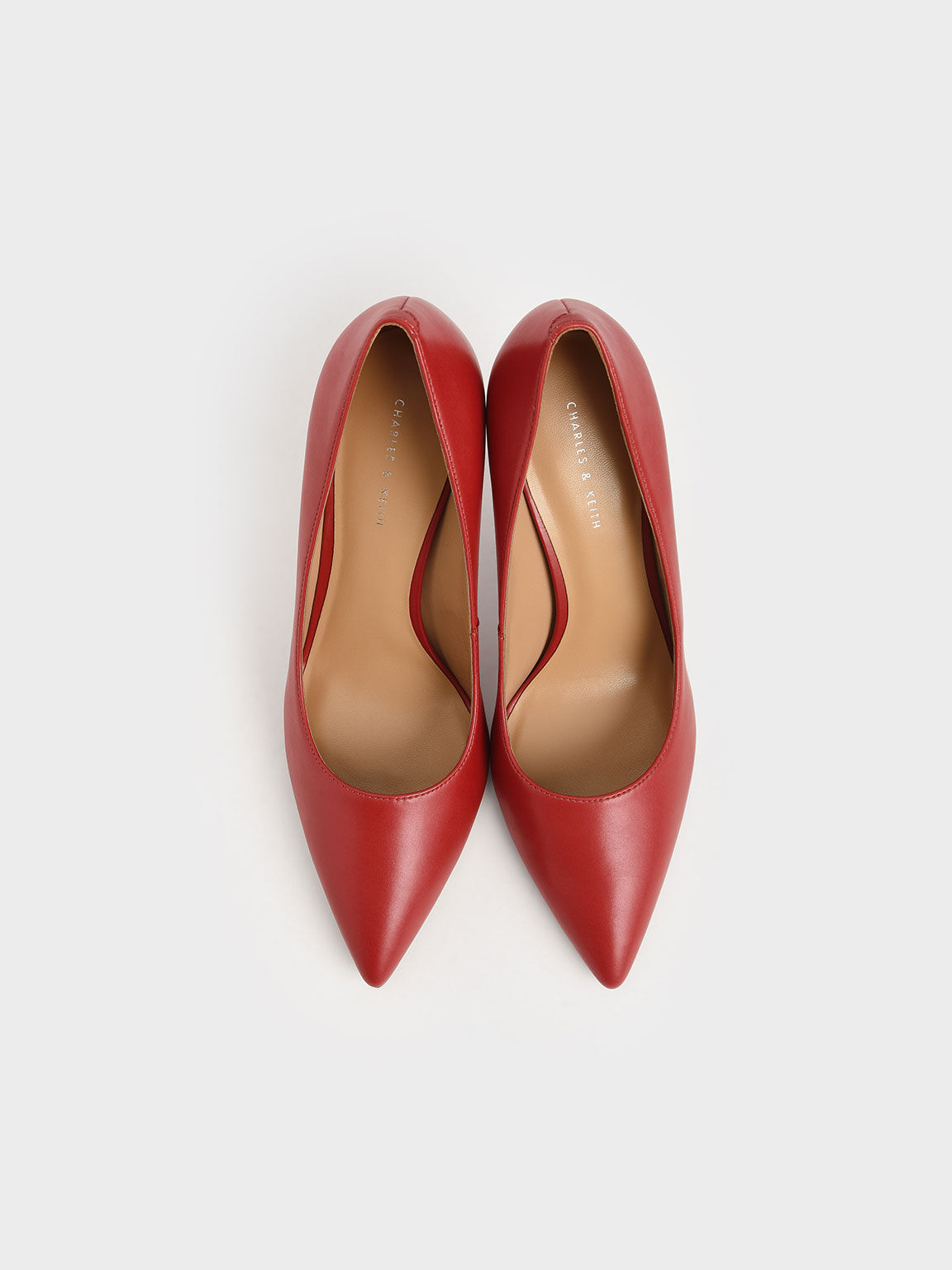 Spool Heel Pointed Toe Pumps, Red, hi-res