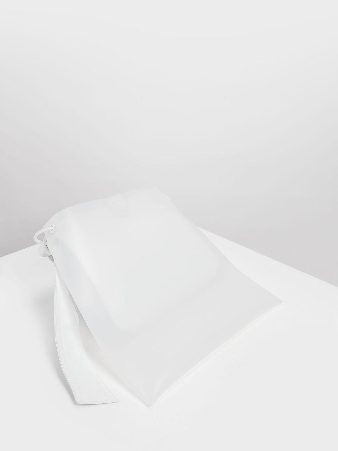 싱글 핸들 호보 백, White, hi-res
