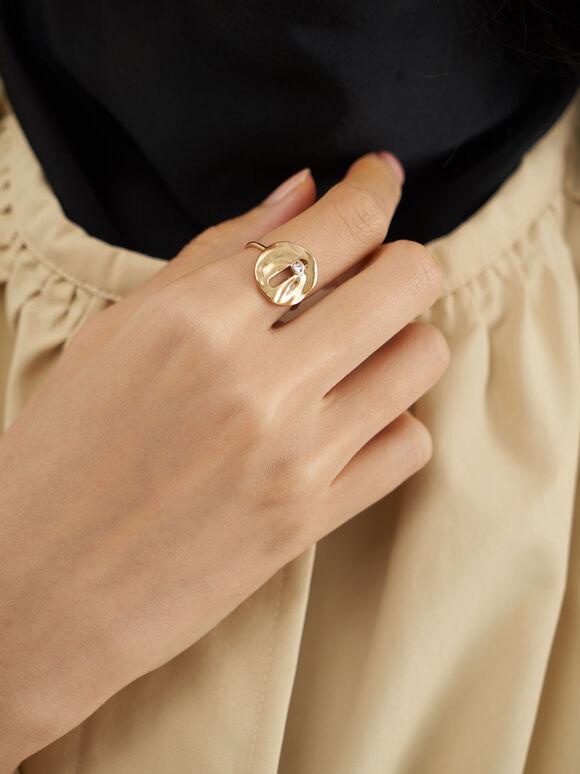Medal Ring, Brush Gold, hi-res
