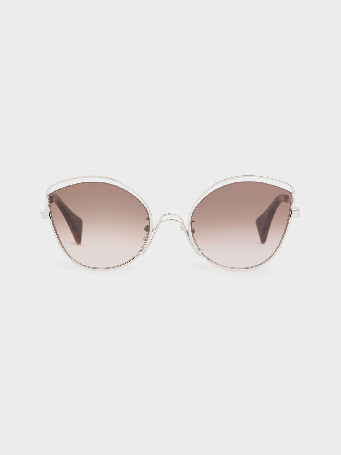 Cut Out Butterfly Sunglasses, Brown, hi-res