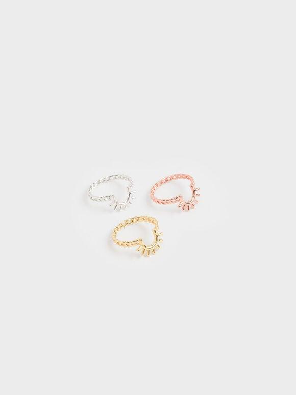 太陽細鍊戒指, 金色, hi-res