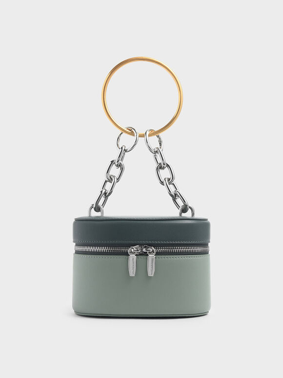 Bracelet Round Bag, Sage Green, hi-res
