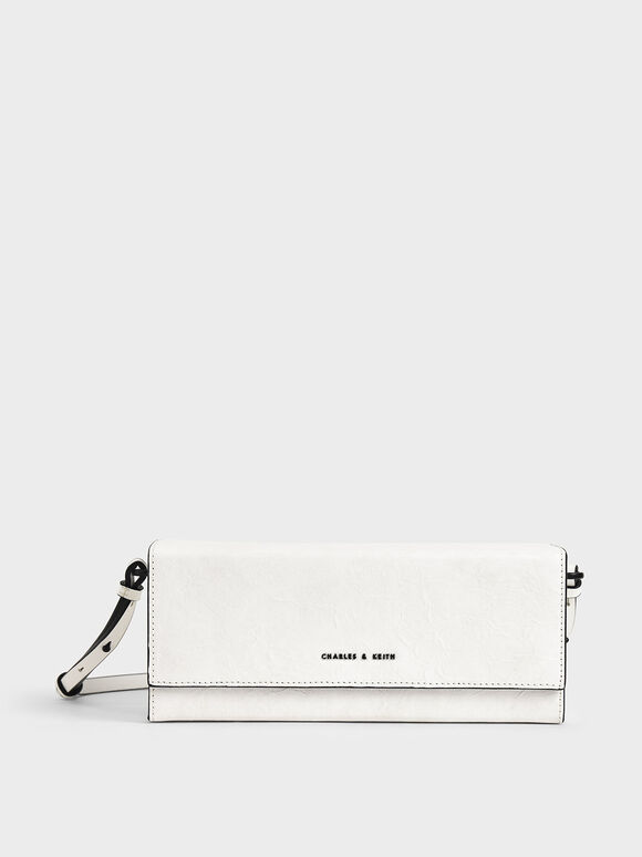 Long Boxy Crossbody Bag, White, hi-res