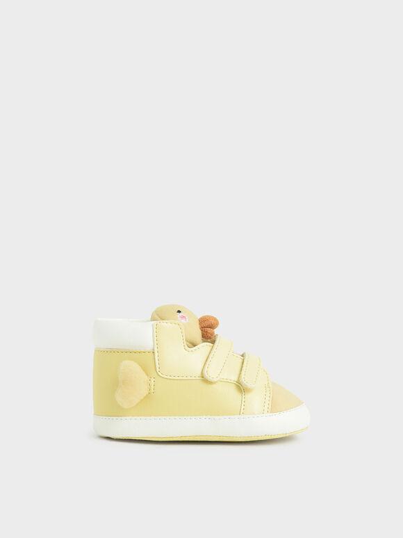 Baby Girls' David The Duck High Top Sneakers, Yellow, hi-res