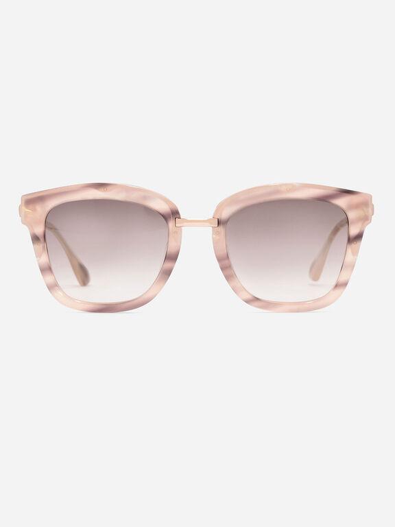 Angular Frame Aviators, Pink