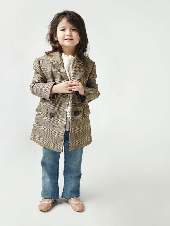 兒童珍珠瑪莉珍鞋, 膚色, hi-res