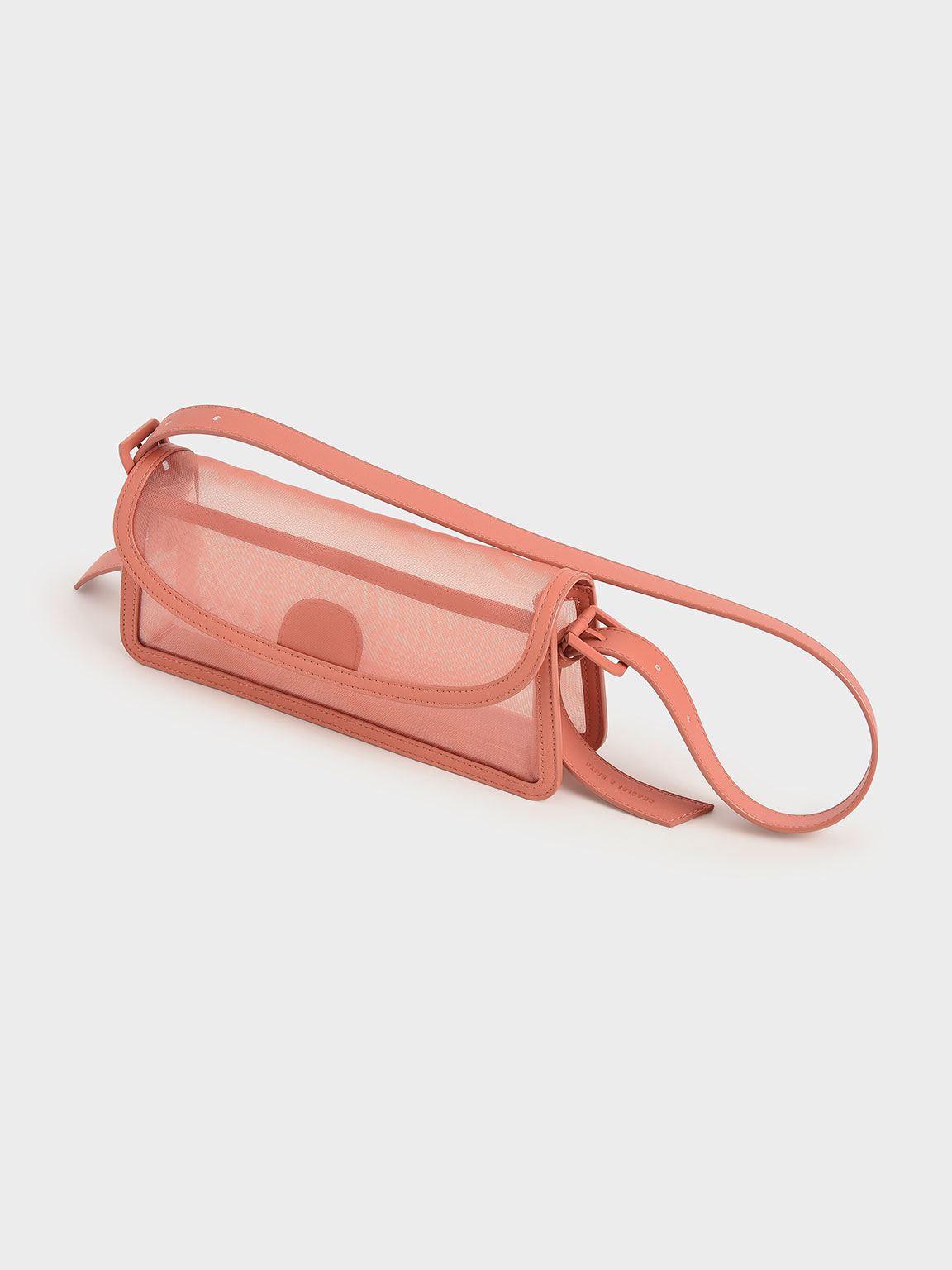 Mesh Shoulder Bag, Orange, hi-res