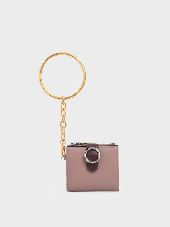 Small Bracelet Wallet, Mauve, hi-res