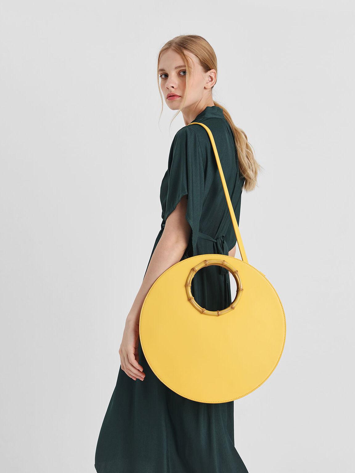 Circular Bag, Yellow, hi-res